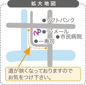 拡大地図のイラスト